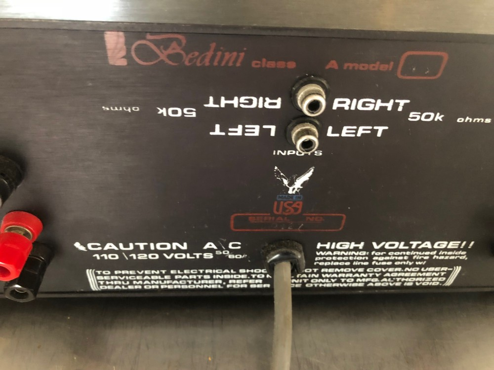 Bedini 45/45 Solid state amp Stereo Amplifier - NEW LOWER ...